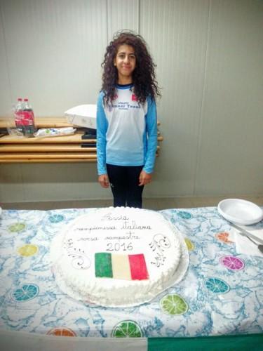 Festeggiamenti per la vittoria ai Campionati Italiani di Cross di Assia