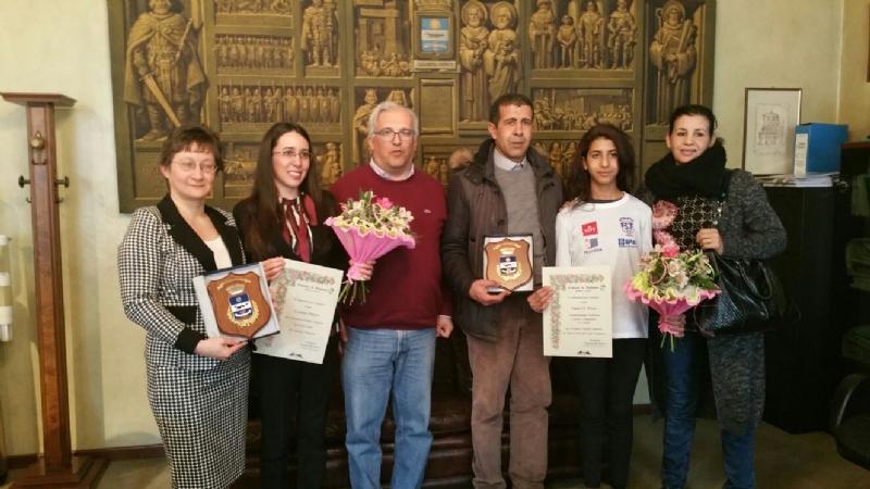 Assia El Maazi premiata dal sindaco di Volpiano!